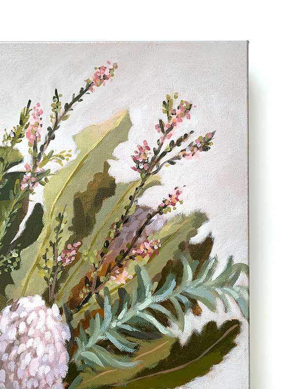 Wild Australian Bouquet Still Life Original Painting Detail