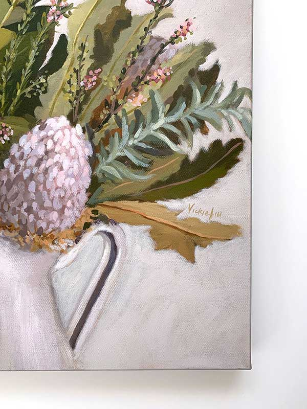Wild Australian Bouquet Still Life Original Painting Signature