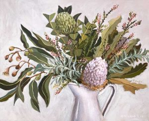 Wild Australian Bouquet Still Life Original Painting