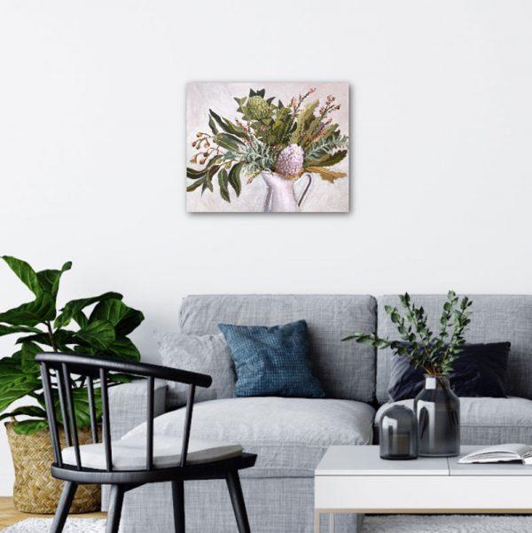 Wild Australian Bouquet Still Life Painting Insitu