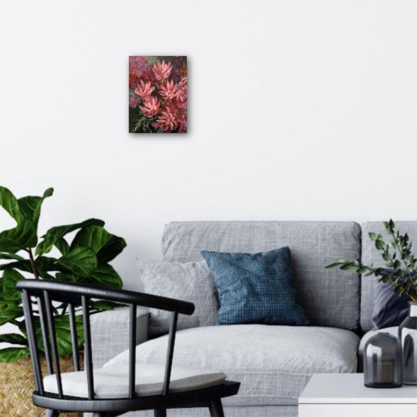 leucadendron flower original painting insitu