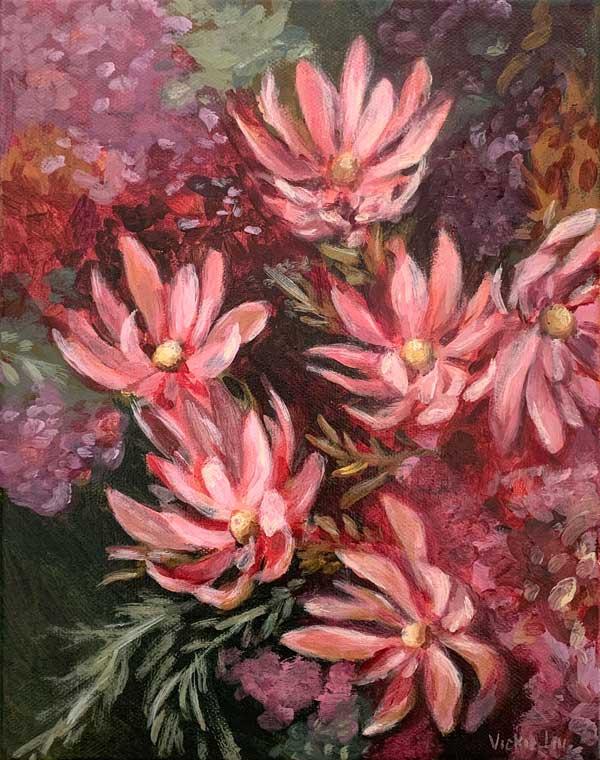 leucadendron flower painting