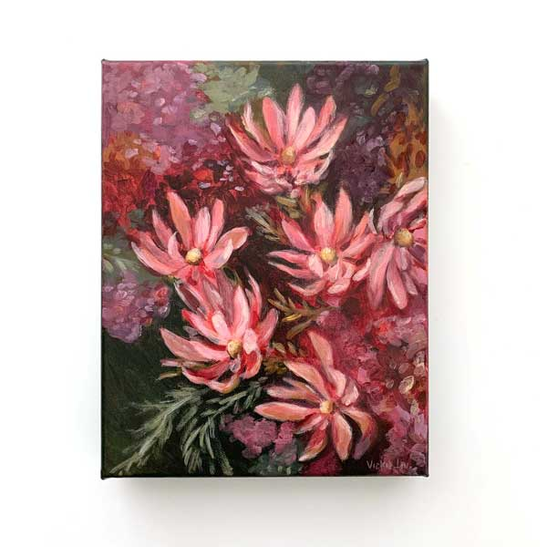 leucadendron flower original painting