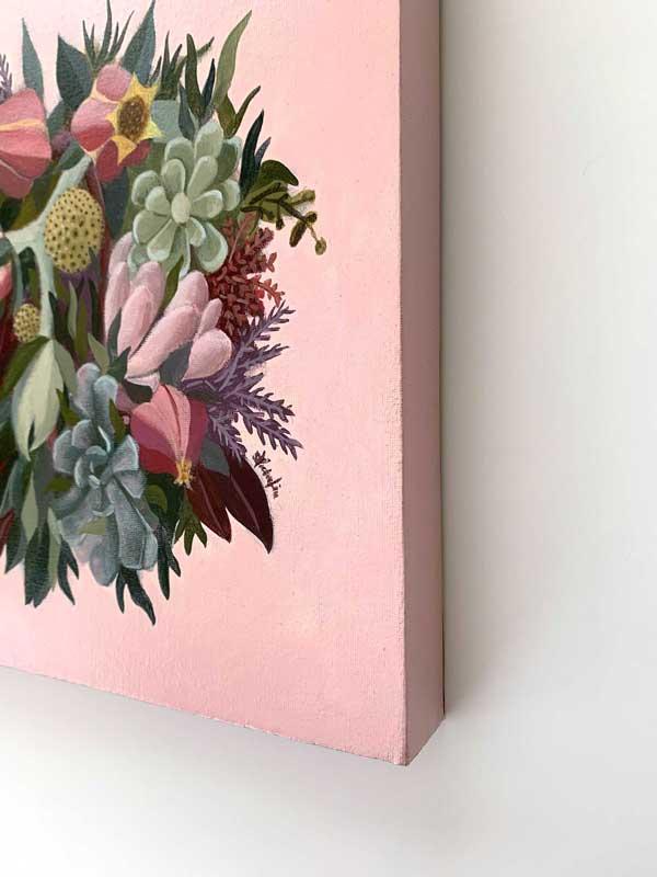 succulent bouquet original painting