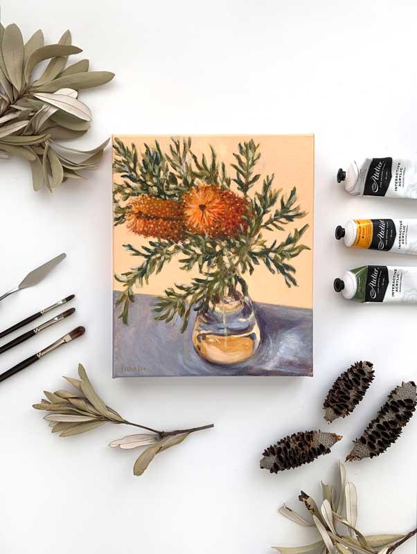 Banksia Still Life Painting