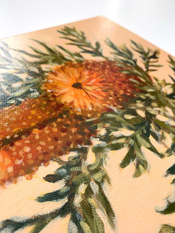 Banksia Still Life Painting Detail