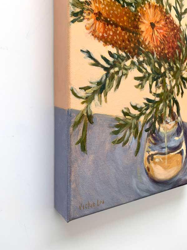 Banksia Still Life Artwork Edge