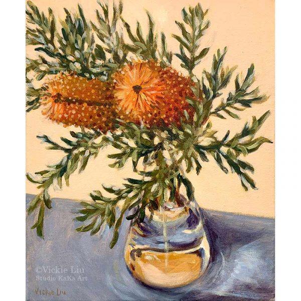 Banksia Still Life Original Painting