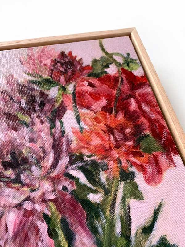 Dahlia Flower Petal Painting Detail