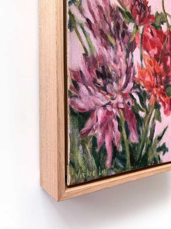 Dahlia Flower Petal Painting Left Edge