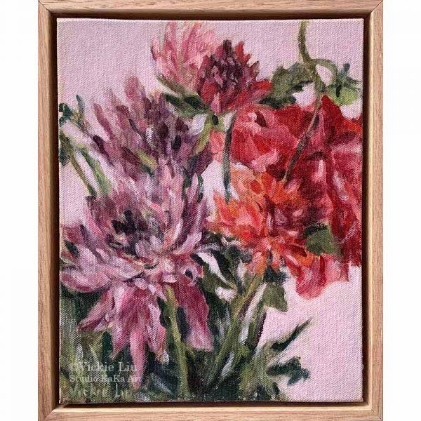 Dahlia Flower Petal Original Painting