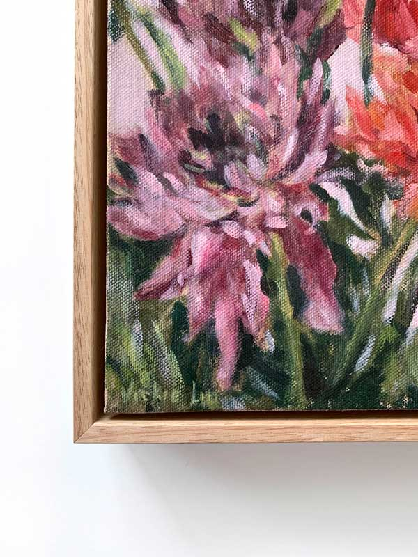 Dahlia Flower Petal Painting Signature