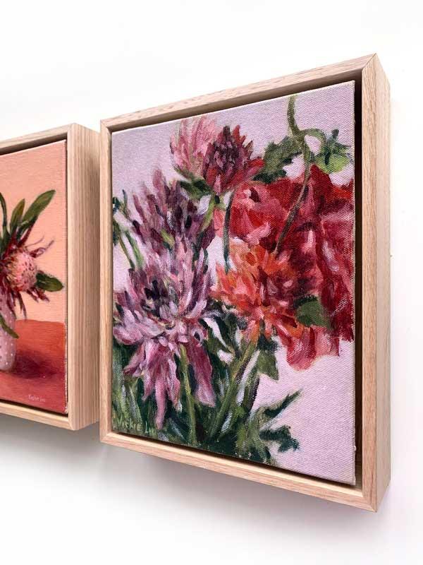 Dahlia Flower Petal Painting