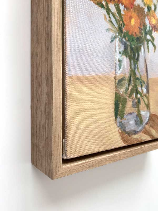 Paper Daisy Painting Frame Edge