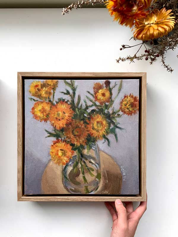 Paper Daisy Painting