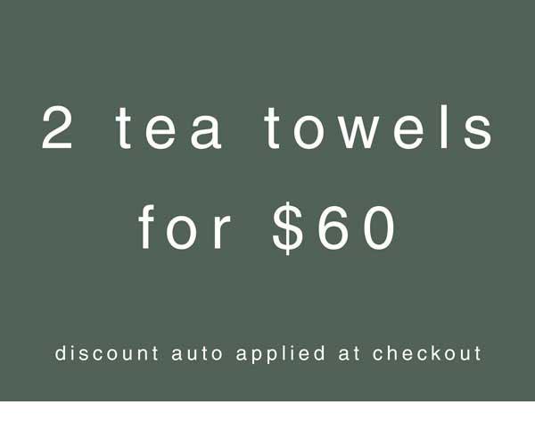 2 tea towel bundle