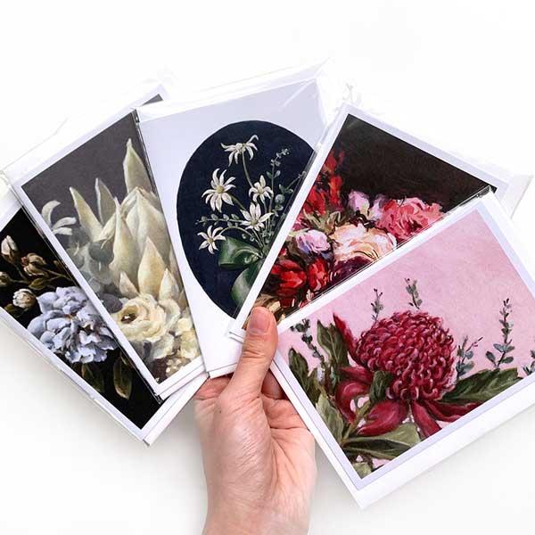 Romantic Australian Floral Card Pack