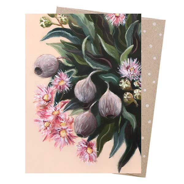 Pink Gumnuts Greeting Card