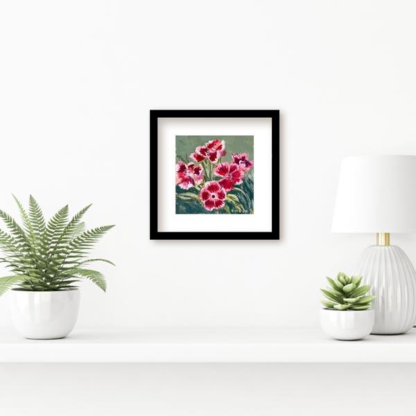 Bearded Pink Flower Petal Painting Insitu