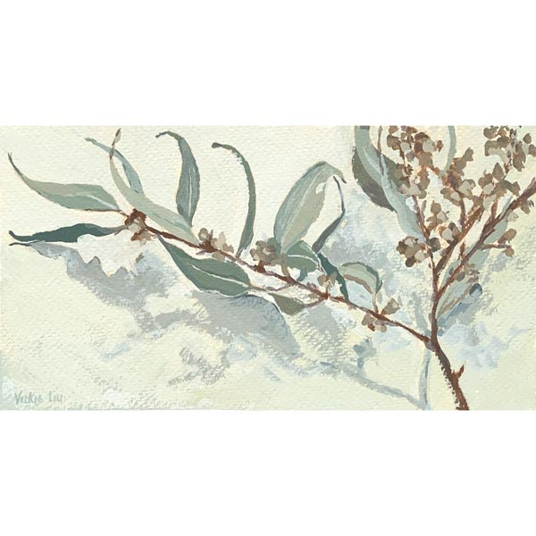 Calm Little Gum Leaves Study Painting