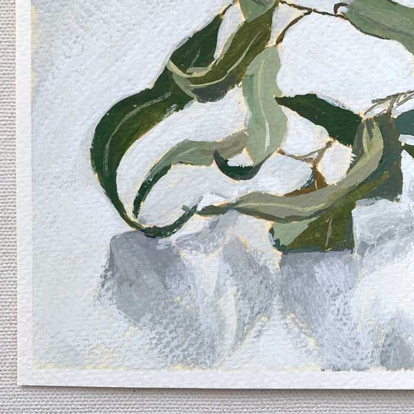 Curly Gum Leaves Painting Detail