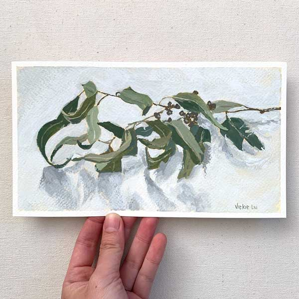 Curly Gum Leaves Painting
