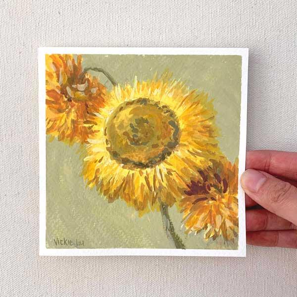 Dried paper daisy mini study