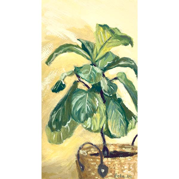 Fiddle Leaf Fig on Yellow Painting