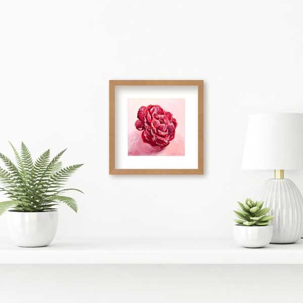 mini camellia flower painting insitu