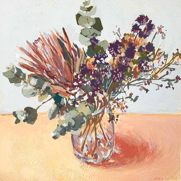 sweet little bouquet still life