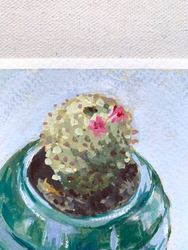 Little Cactus still life painting detail