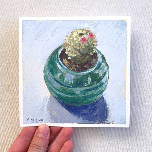Little Cactus still life painting